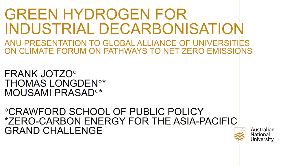 Green hydrogen for industrial decarbonisation
