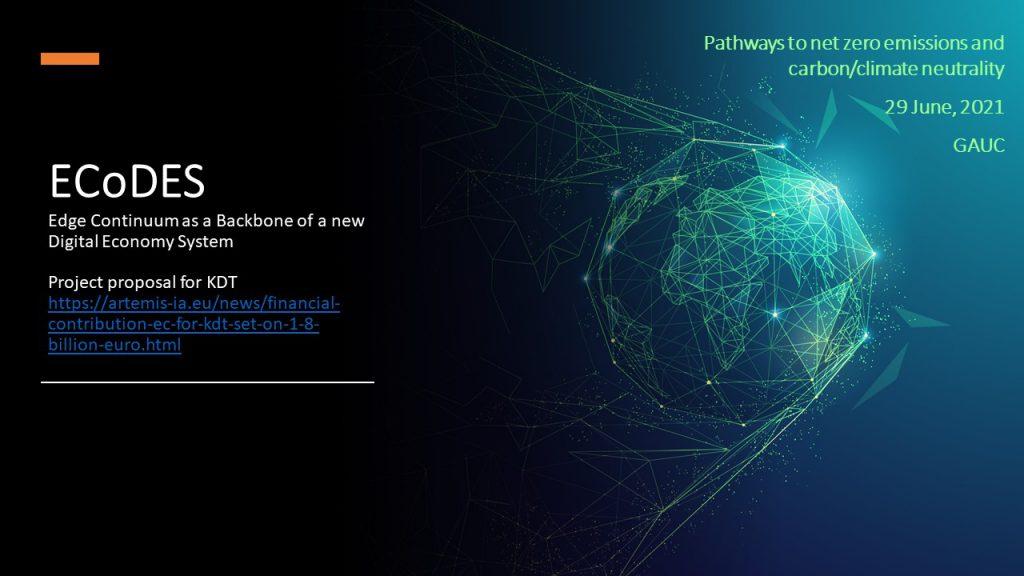 ECoDES - Edge Continuum as a backbOne of a new Digital Economy System