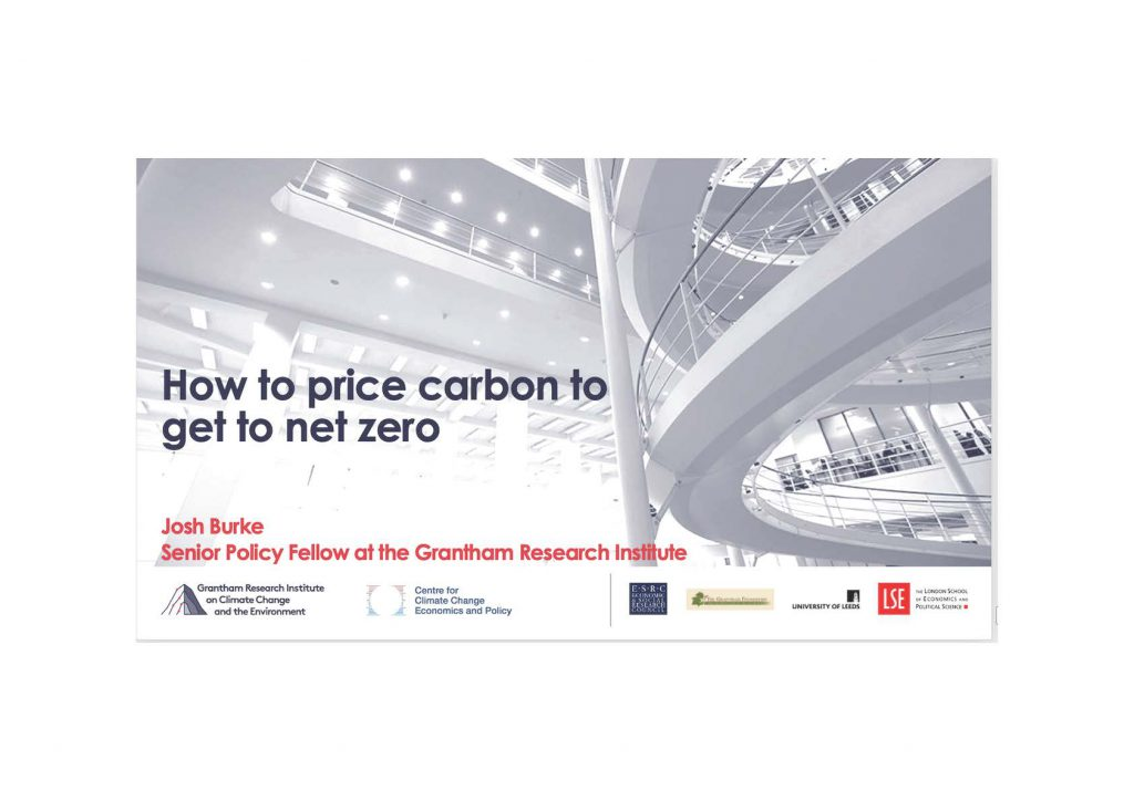 How to price carbon to get to net zero emissions in the UK