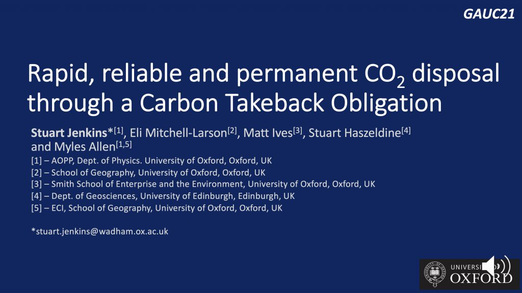 Sustainable funding of permanent CO2 disposal with a Carbon Takeback Obligation