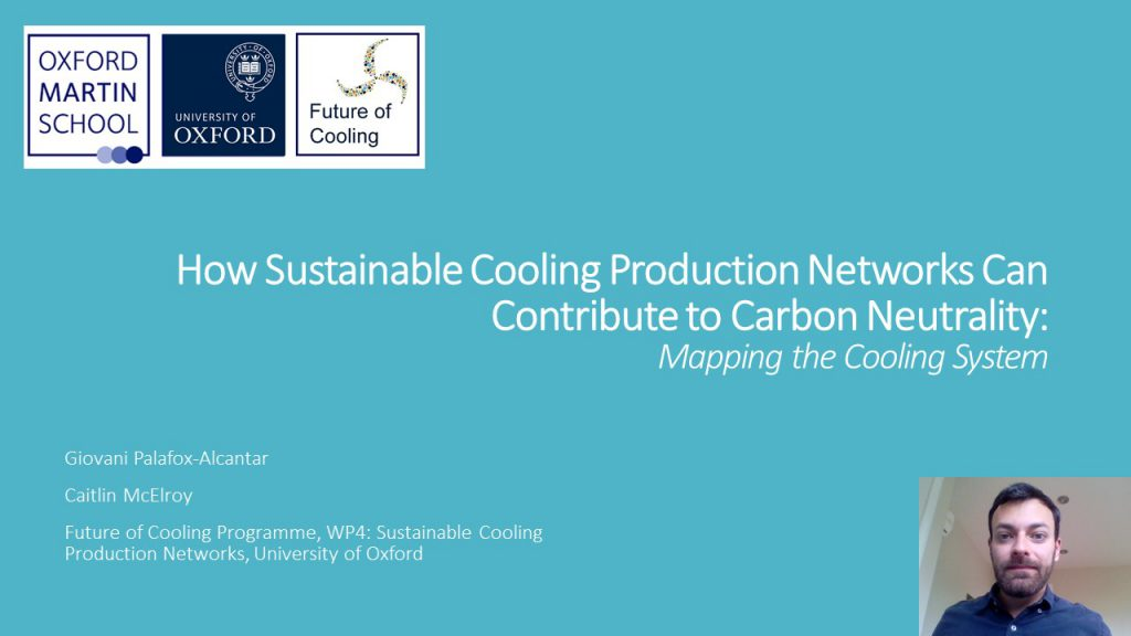 How Sustainable Cooling Production Networks Can Contribute to Carbon Neutrality: Mapping the Cooling System