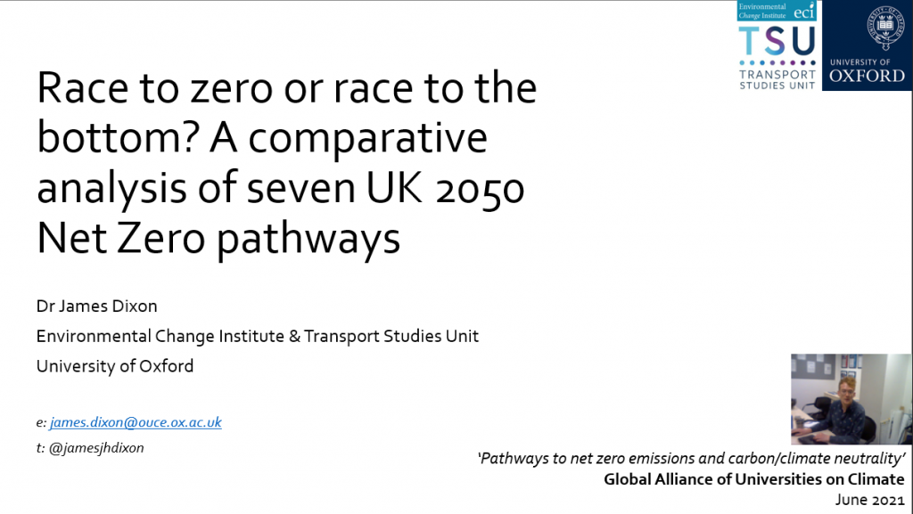 Race to zero or race to the bottom? A comparative analysis of seven UK 2050 Net Zero pathways