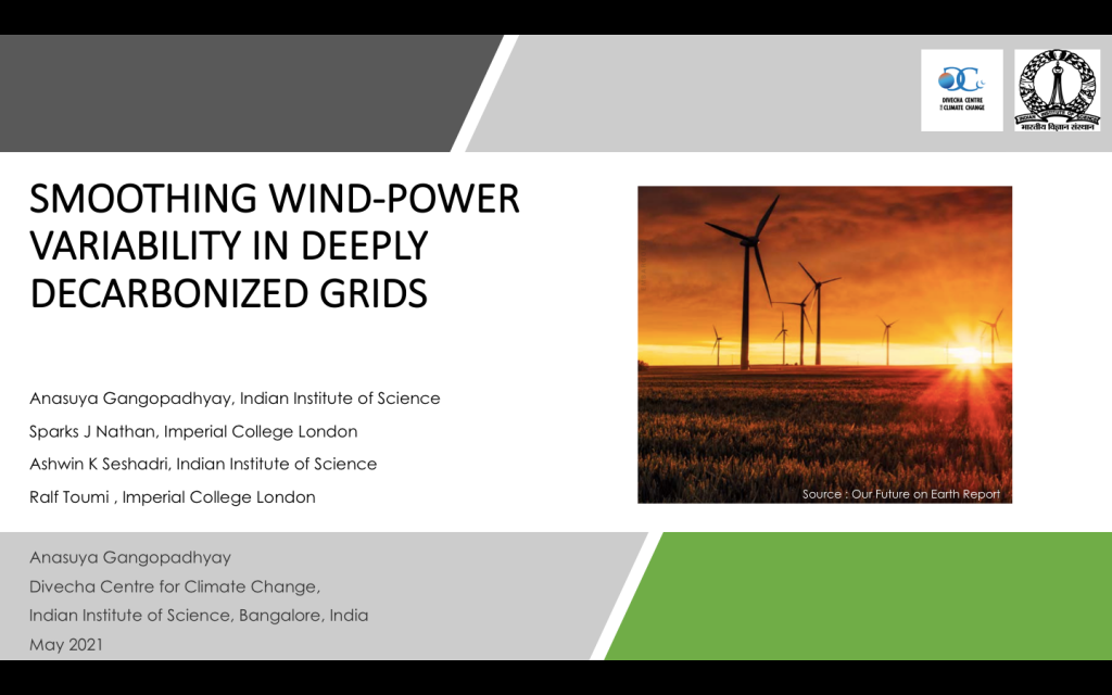 Smoothing wind-power variability in deeply decarbonized grids